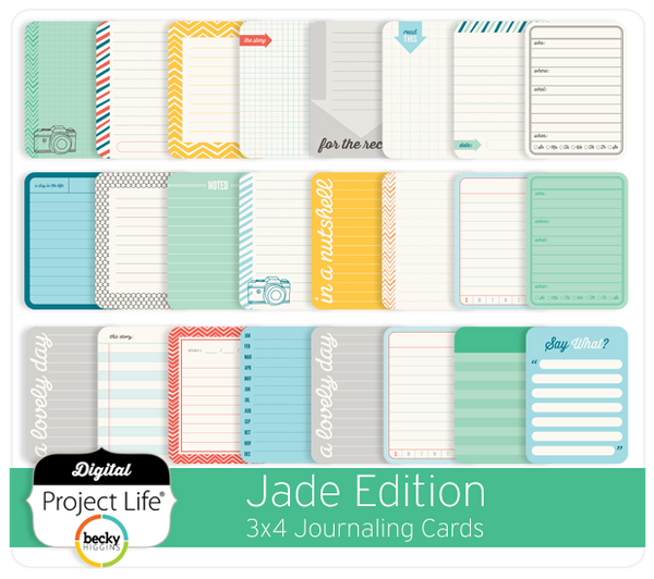 Jade Edition 3x4 Journaling Cards