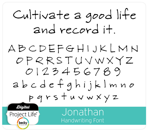 Jonathan Handwriting Font