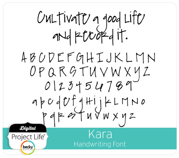 Kara Handwriting Font