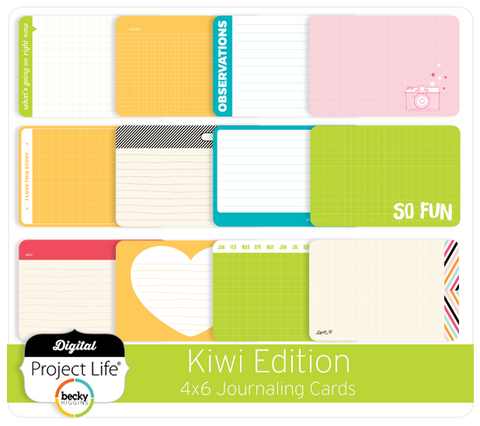 Kiwi Edition 4x6 Bi-Fold Journaling Cards