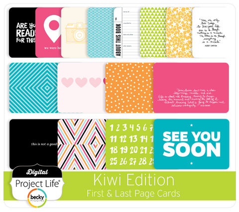 Kiwi Edition First & Last Page Cards