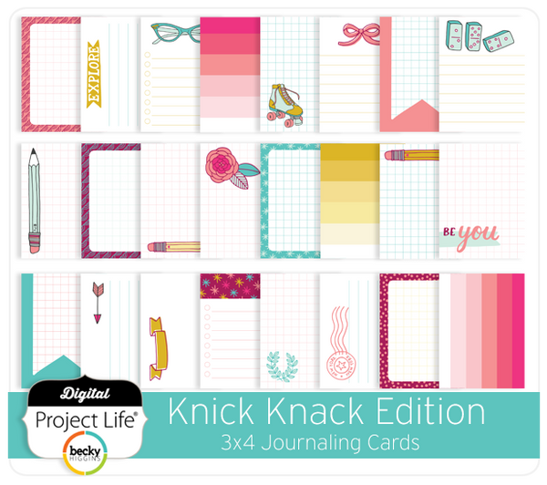 Knick Knack Edition 3x4 Journaling Cards