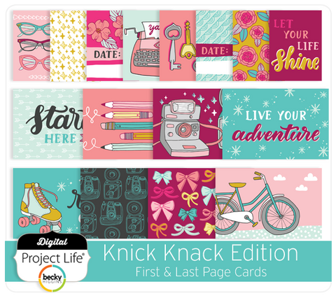 Knick Knack Edition First & Last Page Cards