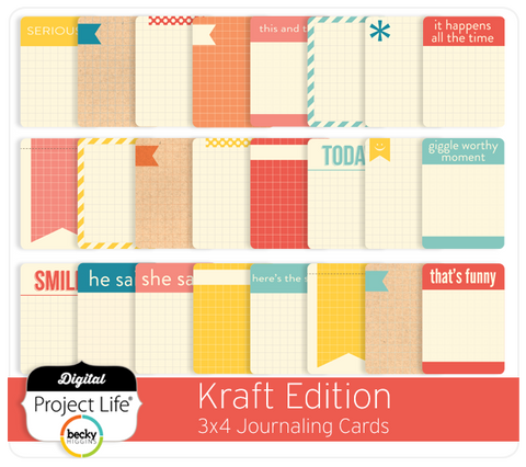 Kraft Edition 3x4 Journaling Cards