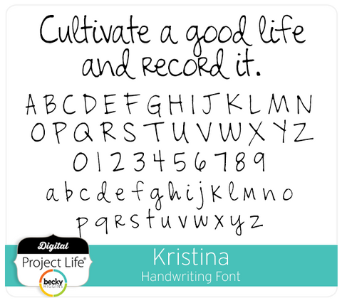 Kristina Handwriting Font