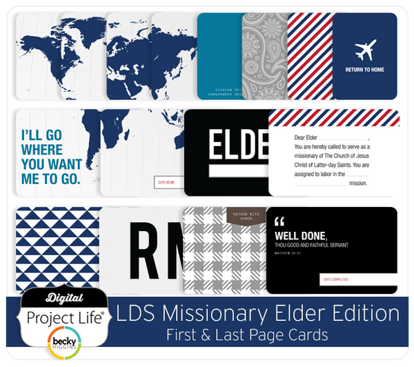 LDS Missionary Elder Edition First + Last Page Cards