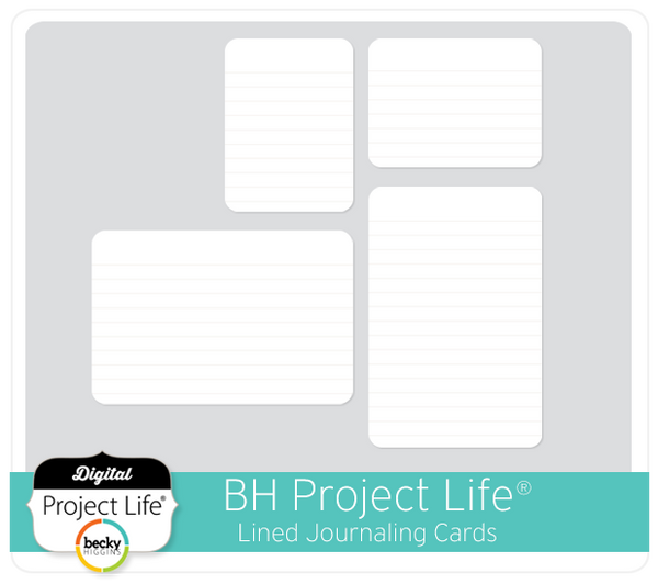BH Project Life FREE Lined Cards