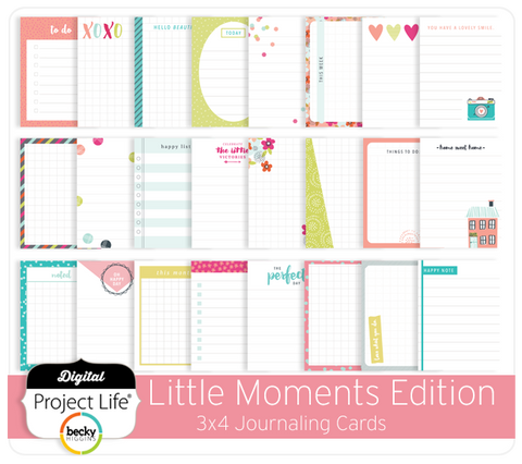 Little Moments Edition 3x4 Journaling Cards