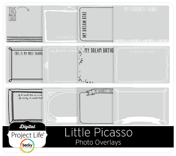 Little Picasso Photo Overlays