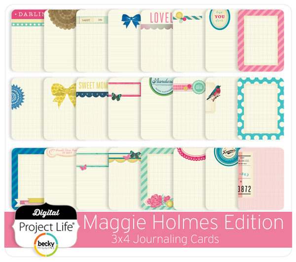 Maggie Holmes 3x4 Journaling Cards