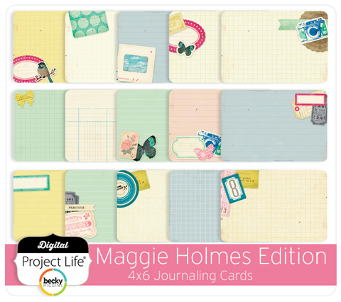 Maggie Holmes 4x6 Journaling Cards