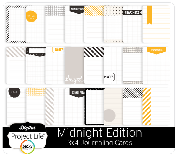 Midnight Edition 3x4 Journaling Cards