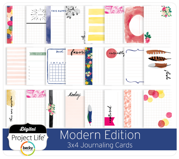 Modern Edition 3x4 Journaling Cards