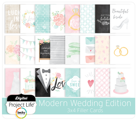 Modern Wedding Edition 3x4 Filler Cards