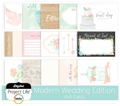 Modern Wedding Edition 4x6 Cards