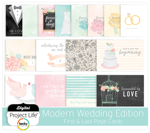 Modern Wedding Edition First & Last Page Cards