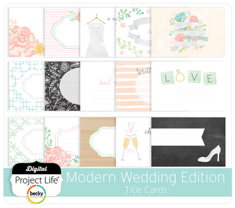 Modern Wedding Edition Title Cards