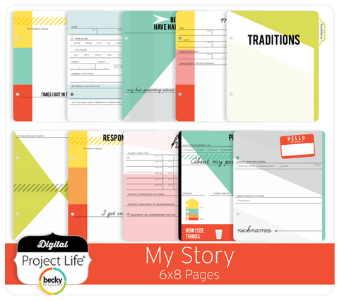 My Story 6x8 Pages