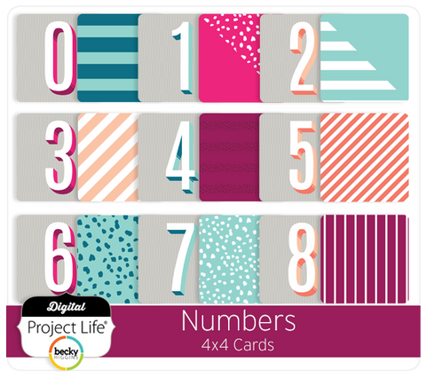 Numbers 4x4 Cards