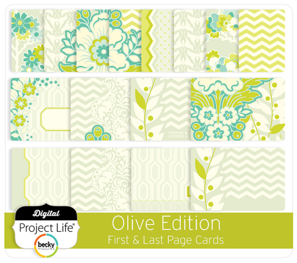 Olive Edition First + Last Page Cards