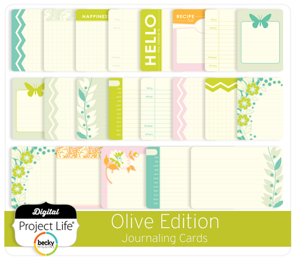 Olive Edition Journaling Cards