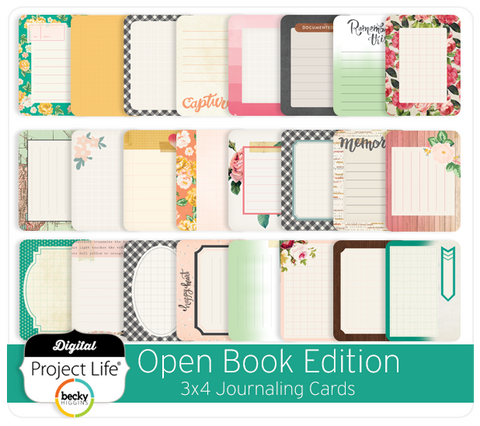 Open Book Edition 3x4 Journaling Cards