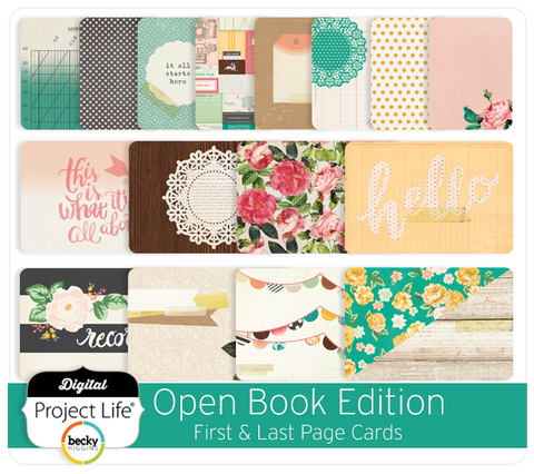 Open Book Edition First & Last Page Cards
