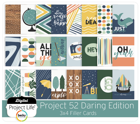 Project 52 Daring Edition 3x4 Filler Cards