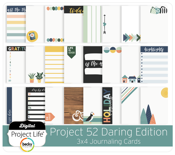 Project 52 Daring Edition 3x4 Journaling Cards