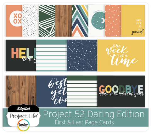 Project 52 Daring Edition First & Last Page Cards