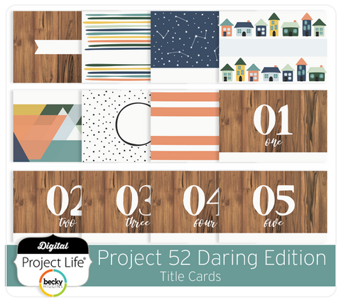 Project 52 Daring Edition Title Cards