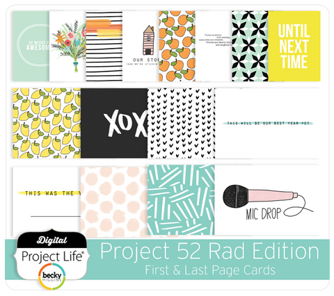 Project 52 Rad Edition First & Last Page Cards