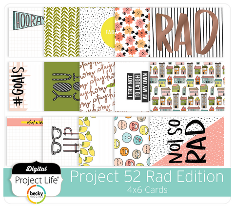 Project 52 Rad Edition 4x6 Cards
