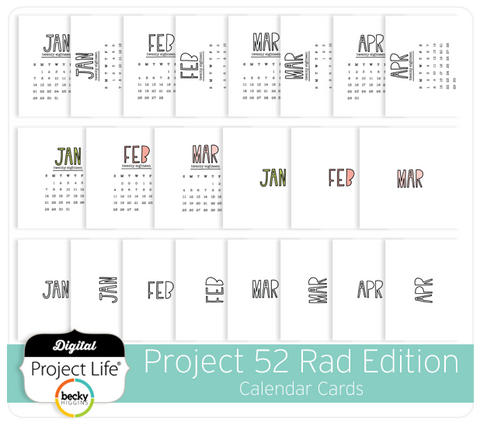 Project 52 Rad Edition Calendar Cards