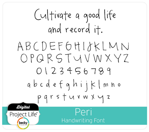 Peri Handwriting Font