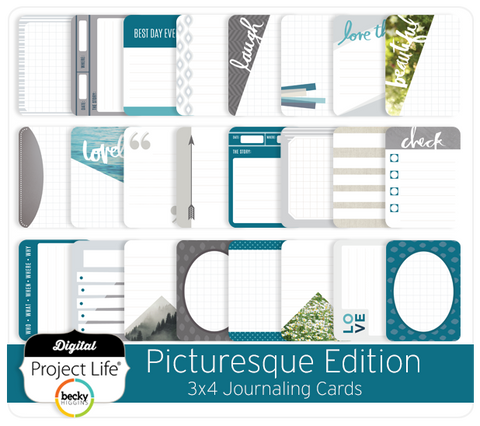Picturesque Edition 3x4 Journaling Cards