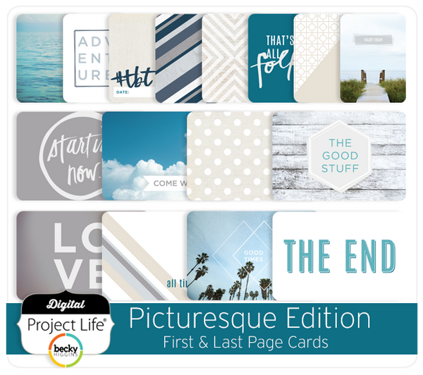 Picturesque Edition First & Last Page Cards