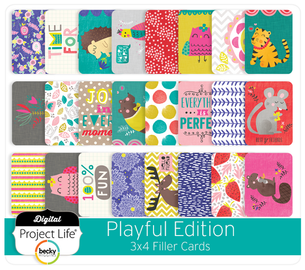 Playful Edition 3x4 Filler Cards