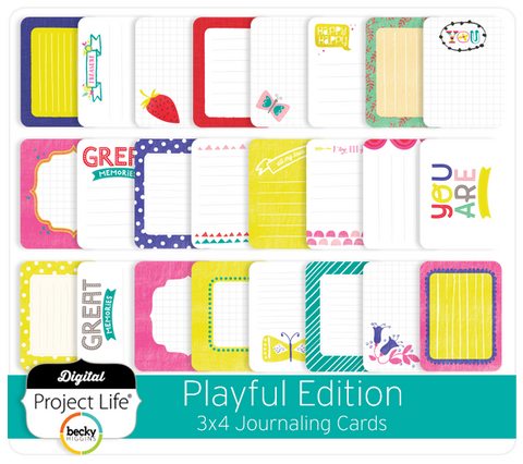 Playful Edition 3x4 Journaling Cards