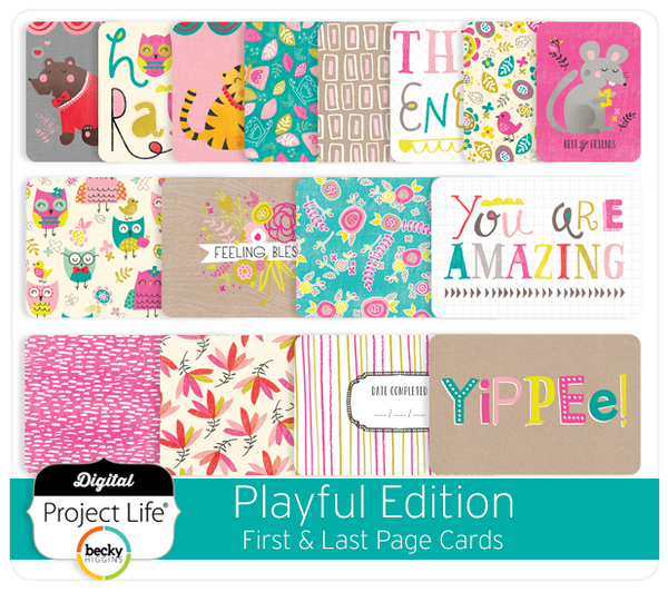 Playful Edition First & Last Page Cards