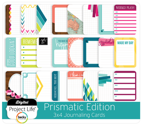 Prismatic Edition 3x4 Journaling Cards