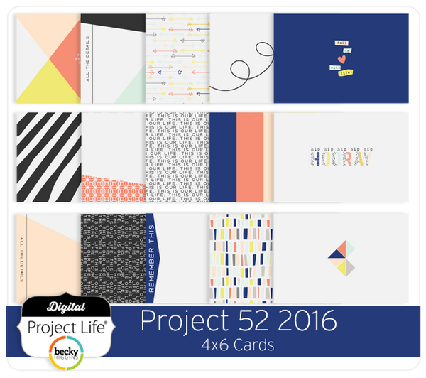 Project 52 2016 Edition 4x6 Cards