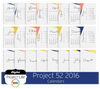 Project 52 2016 Edition Calendars