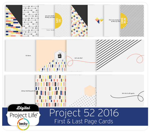 Project 52 2016 Edition First & Last Page Cards