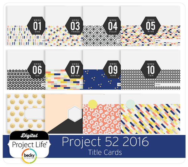 Project 52 2016 Edition Title Cards
