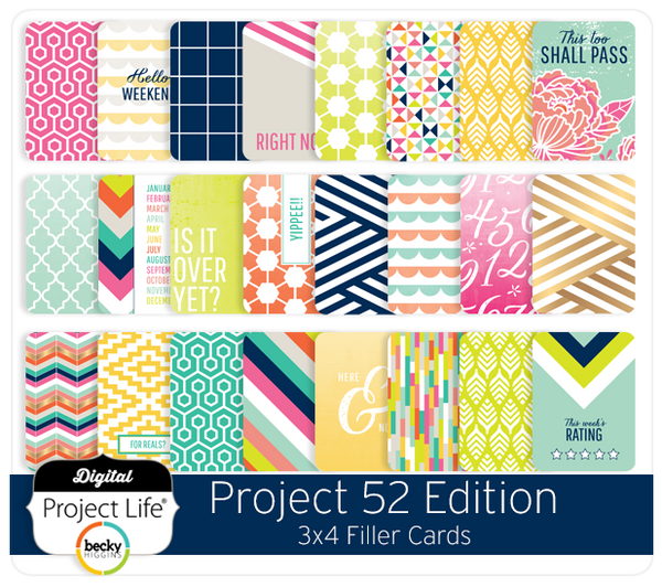 Project 52 Edition 3x4 Filler Cards