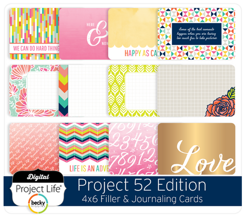 Project 52 Edition 4x6 Cards