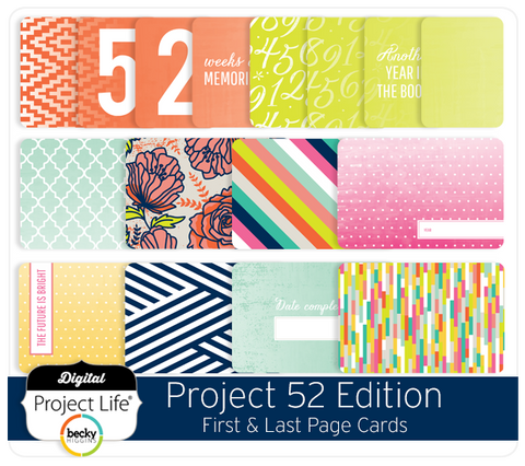 Project 52 Edition First & Last Page Cards