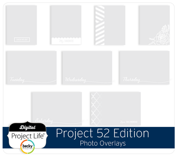 Project 52 Edition Photo Overlays