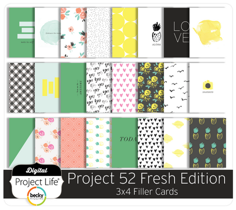 Project 52 Fresh Edition 3x4 Filler Cards